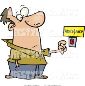 clip-art-of-a-man-in-need-of-help-about-to-push-a-customer-service-cdlyzi-clipart